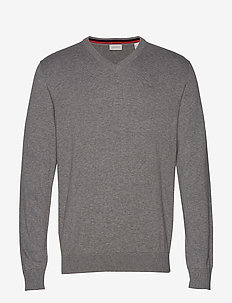 Sweaters - basic knitwear - grey