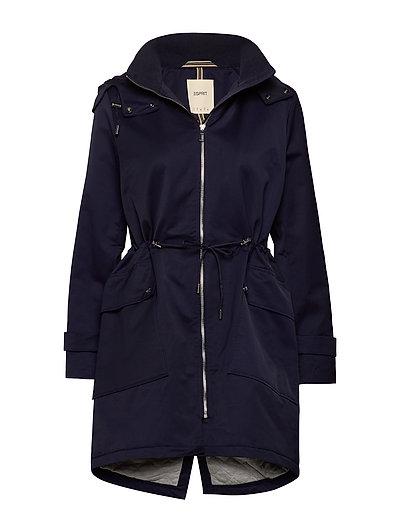 Coats Woven Parka Jacke Mantel Blau ESPRIT CASUAL