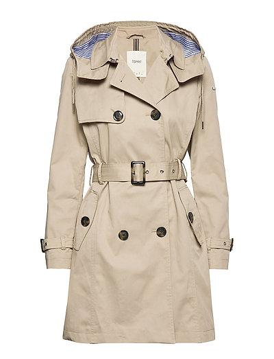 Coats Woven Trenchcoat Mantel Beige ESPRIT CASUAL