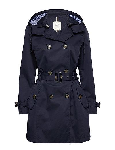 Coats Woven Trenchcoat Mantel Blau ESPRIT CASUAL