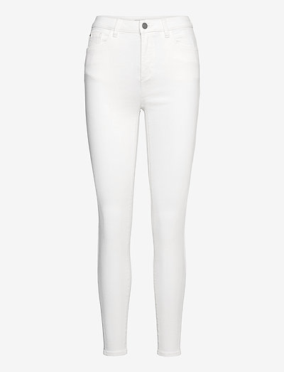 Pants woven - skinny jeans - white