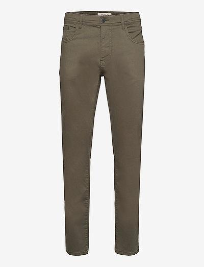 Pants woven - regular jeans - dusty green