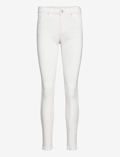 Pants denim - skinny jeans - white