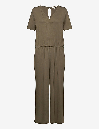 Overalls knitted - clothing - khaki green
