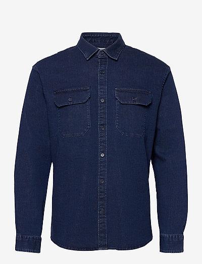Shirts woven - hørskjorter - blue rinse