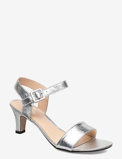 Formal Shoes textile - højhælede sandaler - silver