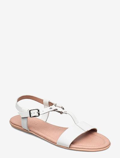 Formal Shoes leather - flade sandaler - white