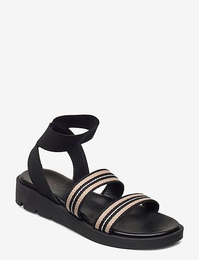 Formal Shoes textile - flade sandaler - black