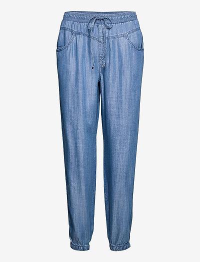 Pants denim - straight regular - blue medium wash