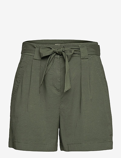 Shorts woven - paper bag shorts - khaki green
