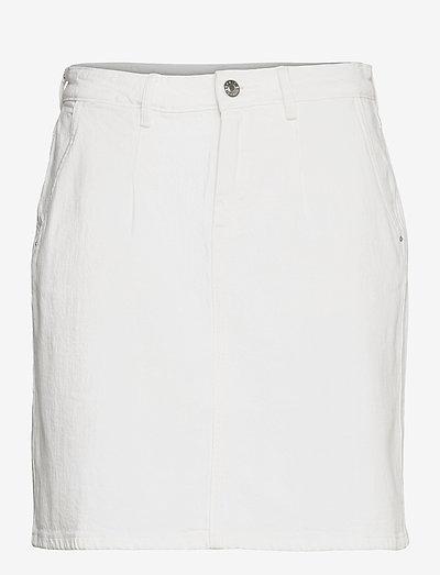 Skirts denim - denimnederdele - off white