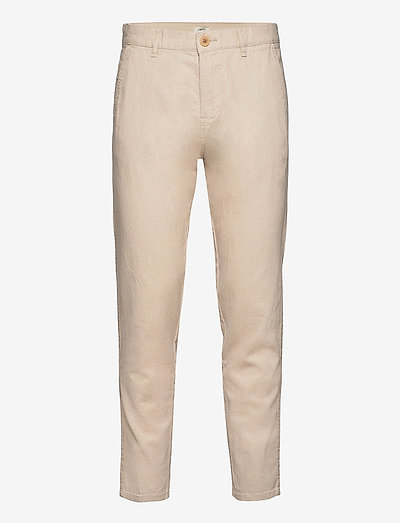 Pants woven - chinos - light beige