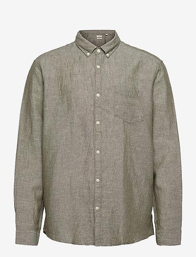 Shirts woven - basic skjorter - dark khaki