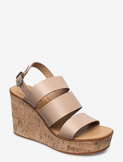 Formal Shoes leather - kilehæl - beige