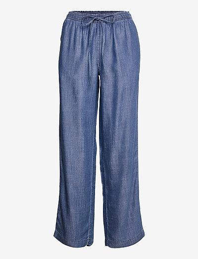 Pants denim - brede jeans - blue dark wash