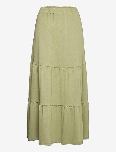 Skirts knitted - midinederdele - light khaki