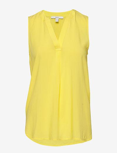 Blouses woven - Ærmeløse bluser - bright yellow