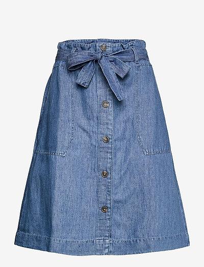 Skirts denim - midi nederdele - blue medium wash