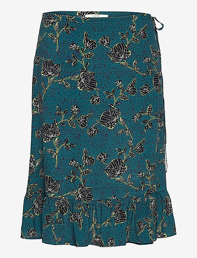 Skirts light woven - midinederdele - turquoise 4