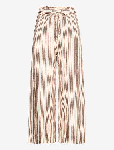 Pants knitted - bukser med brede ben - rust brown