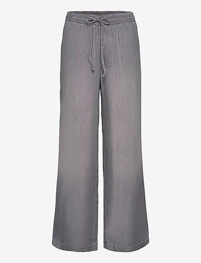 Pants denim - brede jeans - grey medium wash