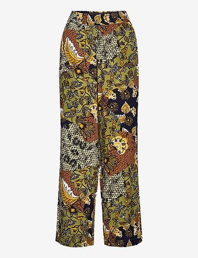 Pants woven - bukser med brede ben - olive 4