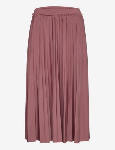 Skirts knitted - midinederdele - dark old pink