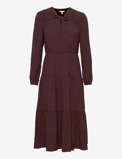 Dresses light woven - cocktailkjoler - rust brown