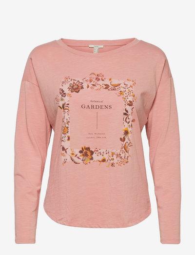T-Shirts - langærmede toppe - old pink