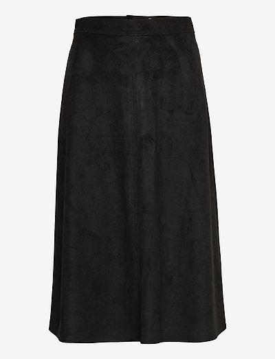 Skirts woven - midinederdele - black