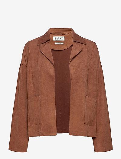 Jackets indoor woven - enkeltradede blazere - brown