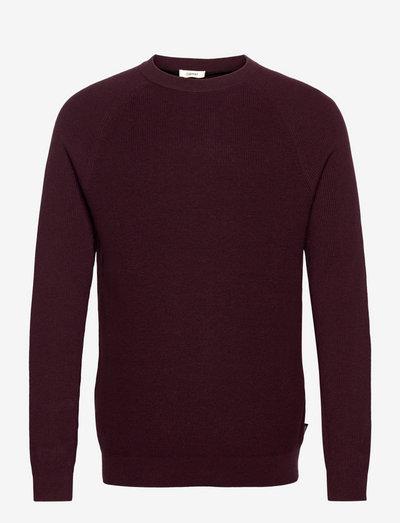 Sweaters - basic strik - bordeaux red 5