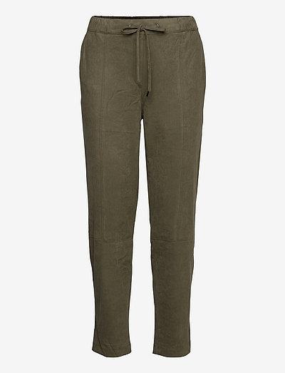 Pants woven - bukser med lige ben - dark khaki