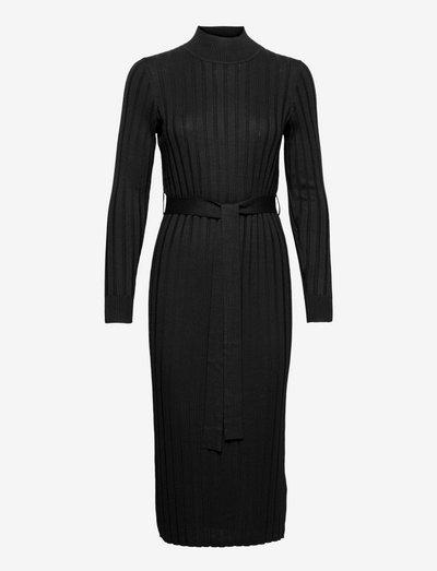 Dresses flat knitted - cocktailkjoler - black