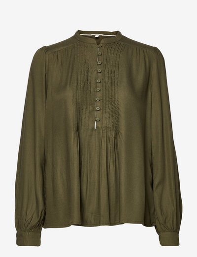 Blouses woven - langærmede bluser - dark khaki