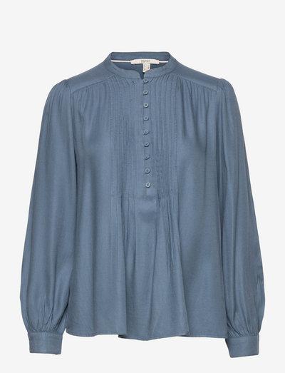 Blouses woven - langærmede bluser - grey blue