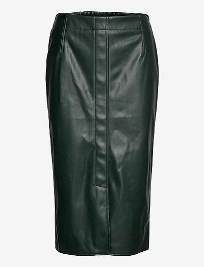 Skirts woven - midinederdele - dark green