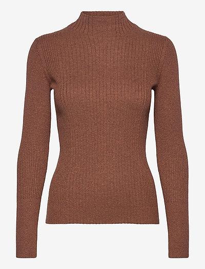 Sweaters - rullekraver - brown 5