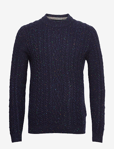 Sweaters - basic strik - navy 5