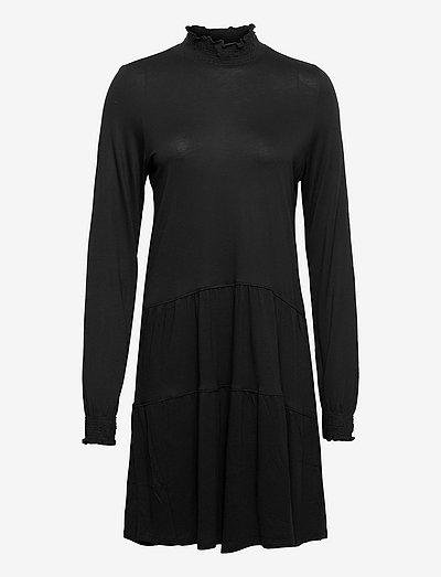 Dresses knitted - strikkjoler - black
