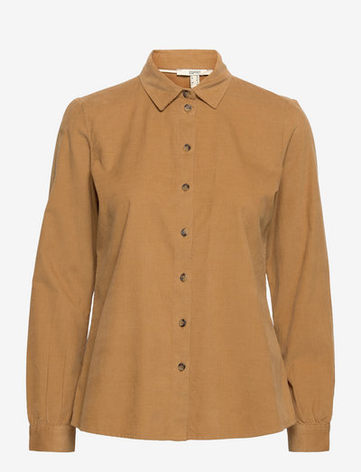 Blouses woven - langærmede skjorter - camel