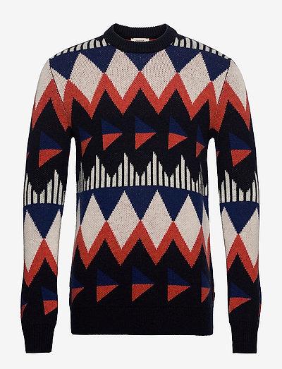 Sweaters - rund hals - navy