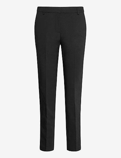 Pants woven - bukser med lige ben - black
