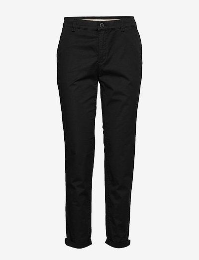 Pants woven - chinos - black