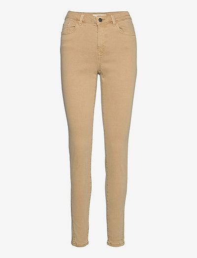 Pants woven - bukser med smalle ben - camel