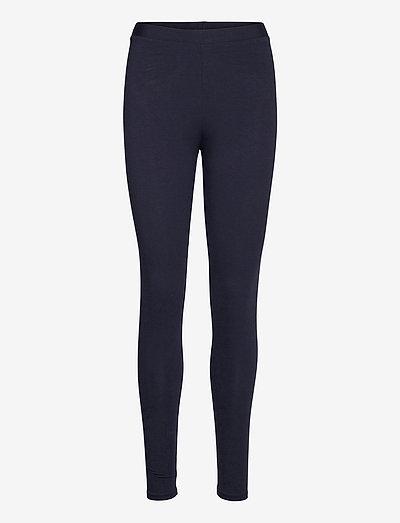 Pants knitted - leggings - navy