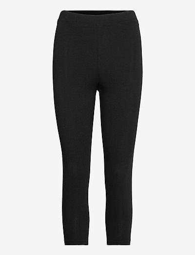 Pants knitted - leggings - black