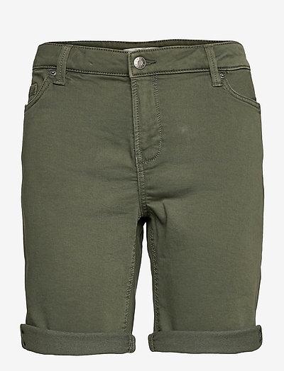 Shorts woven - denimshorts - khaki green