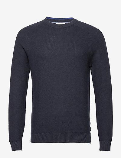 Sweaters - basic strik - navy