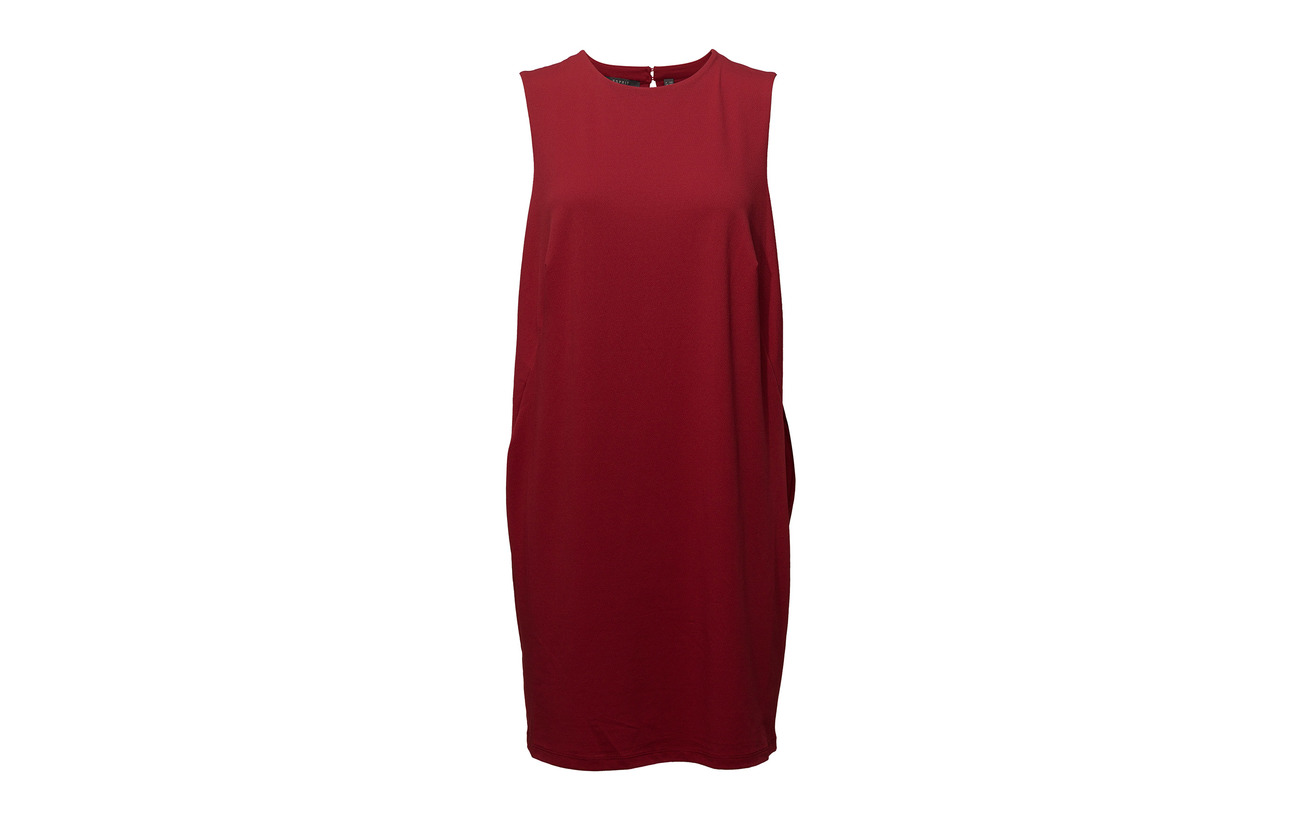 Elastane Red Dark Polyester Dresses 3 Collection Knitted 97 Esprit BpwI8qxw